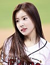 Kang Hye-won at Jamsil Baseball Stadium on October 06, 2018 (1).jpg